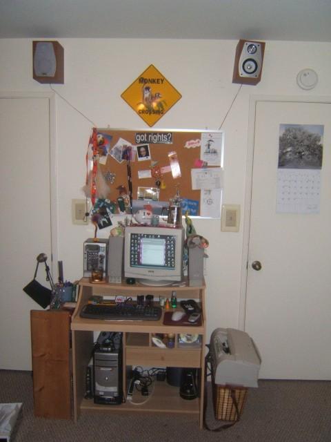 My New Desk Area