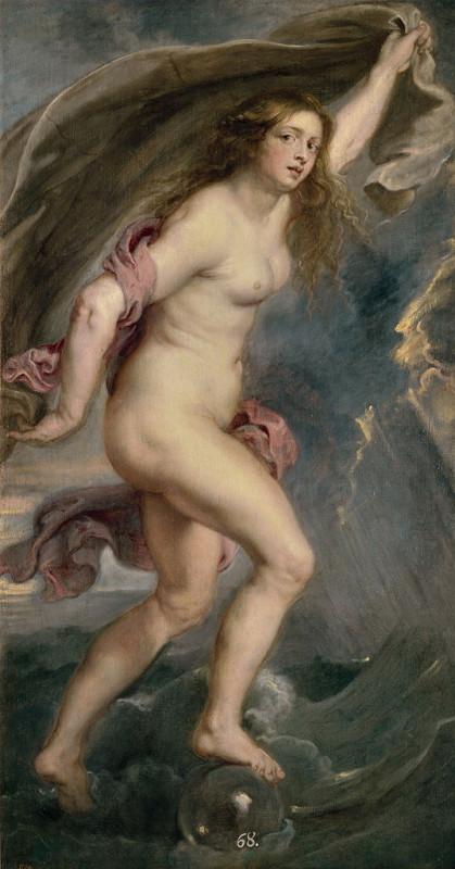 """Фортуна"", Питер Пауль Рубенс, 1636-38 музей Прадо, Мадрид"