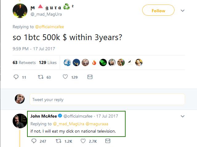 Джон МакАфи объявил о желании участвовать президентских выборах 2020 года