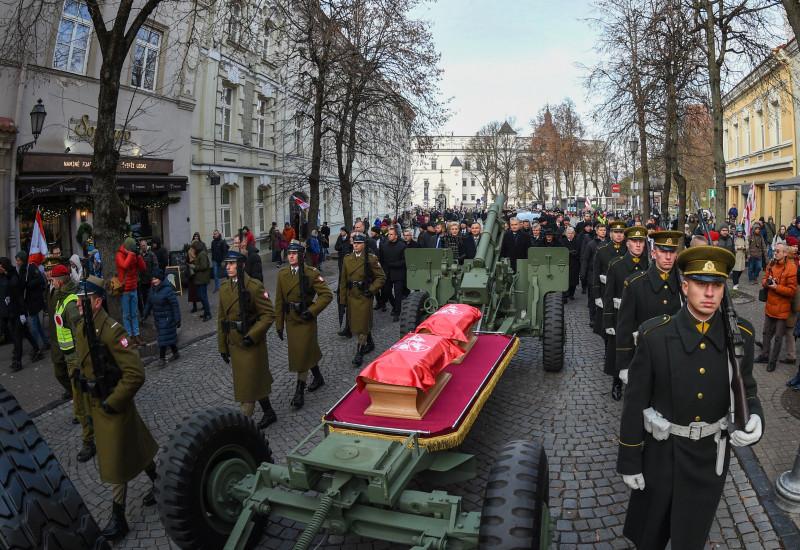 Похороны участников польского восстания 1863 - 1864 в Вильнюсе