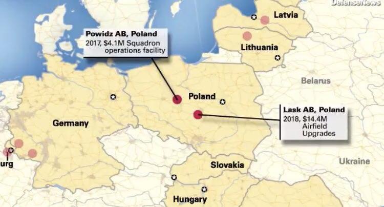 Американские военные будут перебазированы из Германии в Польшу