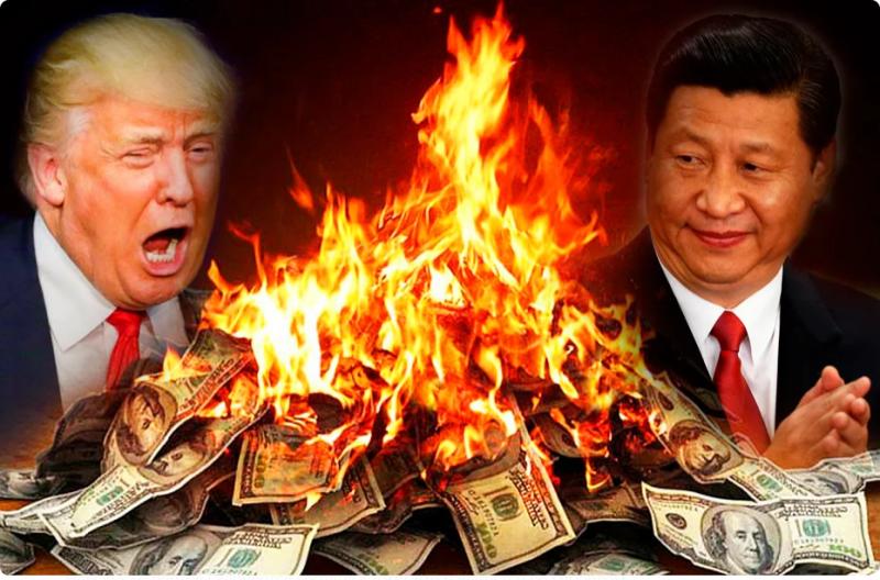 Началось. Китай угрожает сбросить облигации США