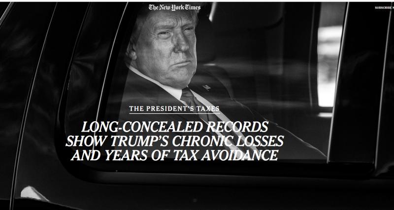 Разорвалась предвыборная бомба в США - Трамп не платил вообще никаких налогов