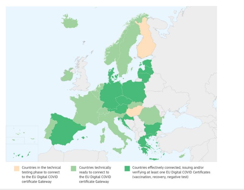 Европа открыла внутренние границы для привитых граждан