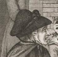 1786, recruting serjent or brown bess, samuel collings detail