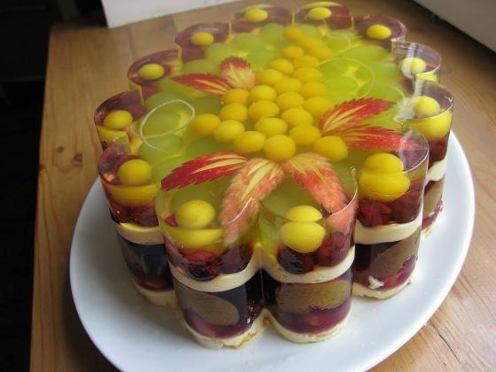 Желейно фруктовый торт рецепт с фото
