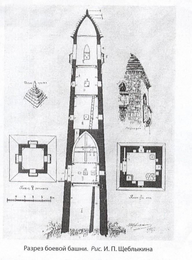 Башня в разрезе