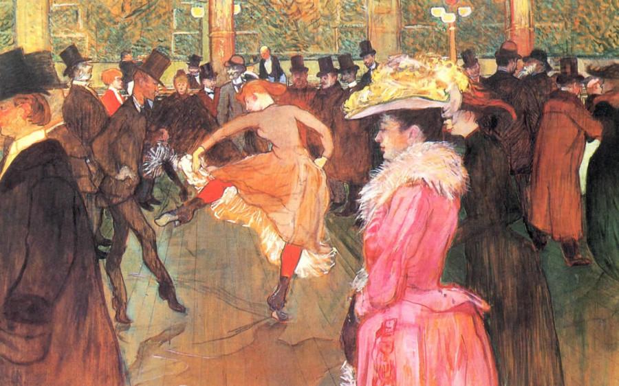 22. Fine Art Painting Toulouse Lautrec, Henri De At The Moulin Rouge, 1890 , Philadelphia Museum Of Art