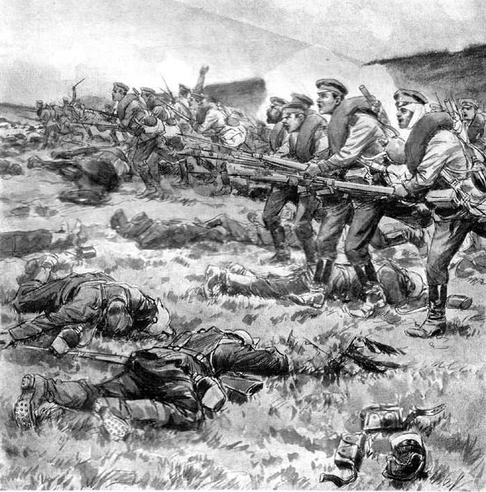Атака в Первой мировой войне опять, Кутепов, Макарова, времени, месте, увидел, полка, подсчитывал, поворачивался, прямо, «левой, Похоже, Селом, Зрелище, импозантное, Красным, лагерях, Дейтрих, сражения, учебное