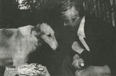 С псом Уланом. Поселок Птичное. Лето 1987.