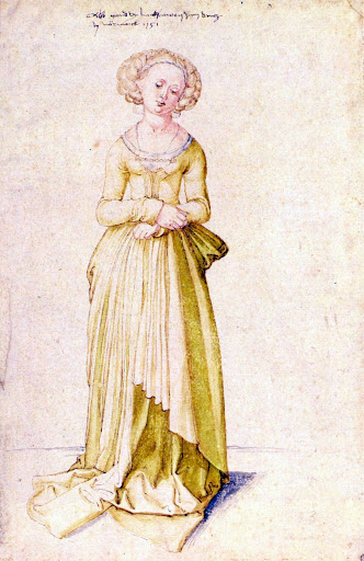 Nuremberg virgin in dance dress by Durer