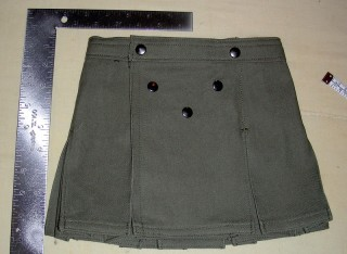 Olive Drab Infant Kilt (front)
