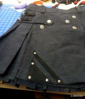 Charcoal Denim with Black Leather