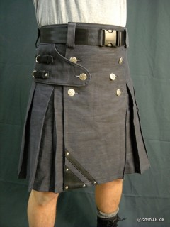 Denim and Leather kilt