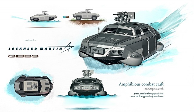 Amphibious combat craft concept
