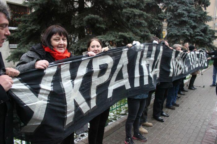 В Москве разогнали Евромайдан у посольства Украины