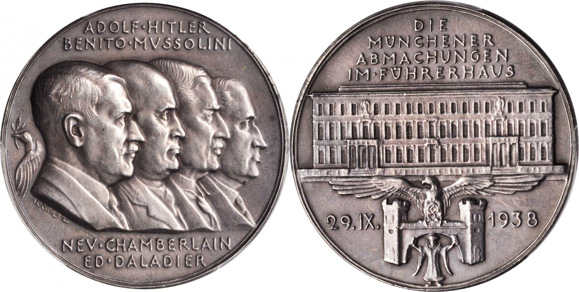 Munich Agreement Silver Medal, 1938 - pic1