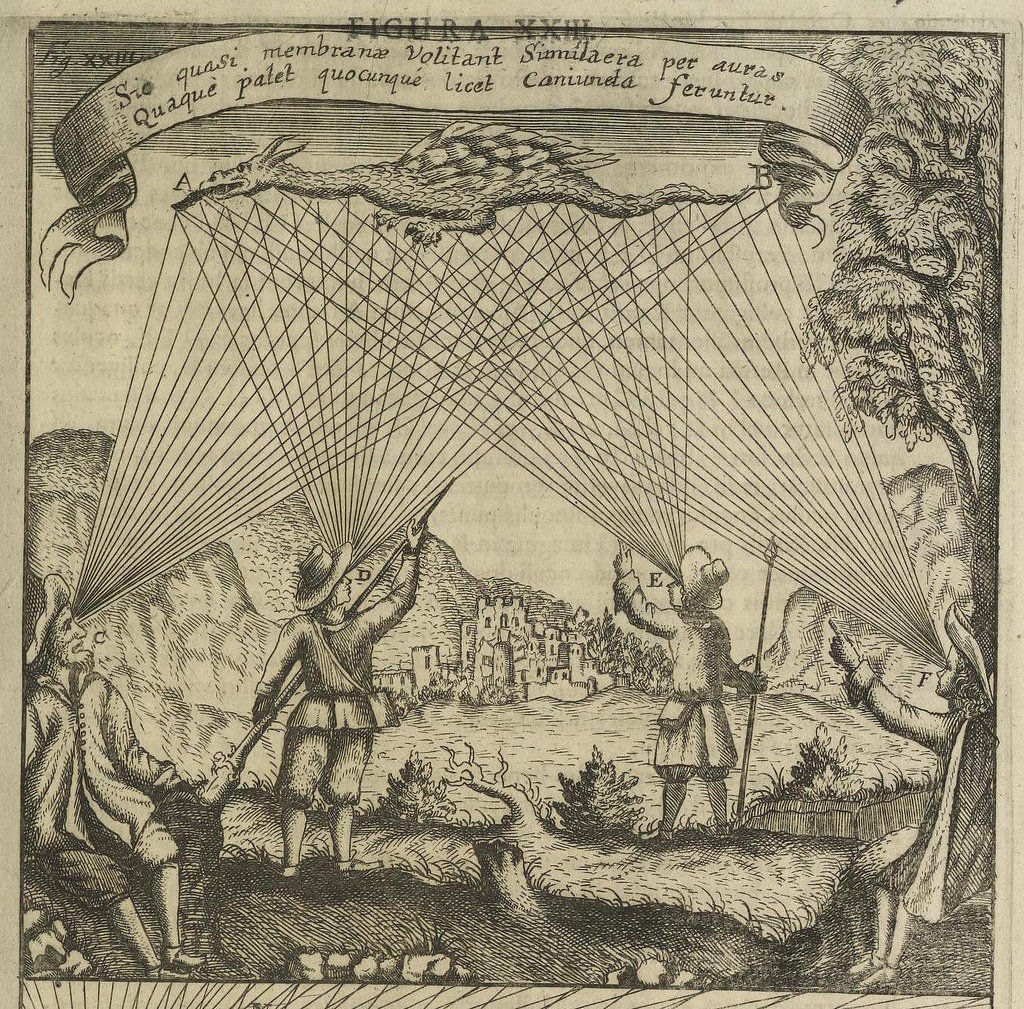 Изображения от Иоганна Зана Oculus Artificialis (1685)~Figura XXIII