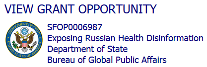 View Grant Opportunity.  SFOP0006987