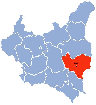 Волынское воеводство на карте