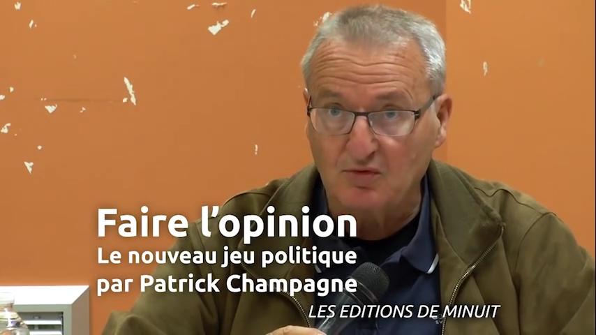 Patrick Champagne invité aux Jeudis d'Acrimed le 21 mai 2015