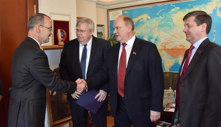 Г.А. Зюганов встретился с послом США в России Джоном Теффтом