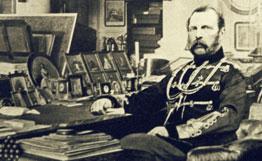 Александр II в своём кабинете