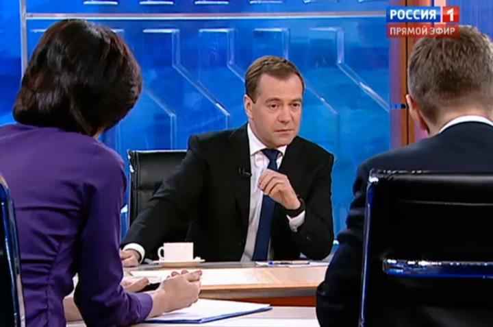 07.12.20121207-Дмитрий Медведев- цитаты из интервью пяти каналам
