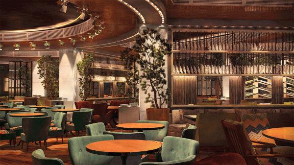 Дизайн зала будущего ресторана