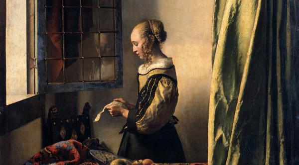 01-Ян Вермеер. Девушка, читающая письмо у открытого окна