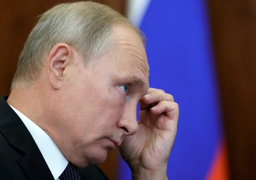 Russian president Vladimir Putin at a meeting on Tuesday ( AP )