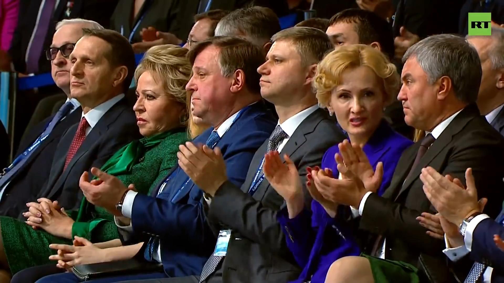05-Путин выступает на съезде партии «Единая Россия»