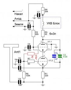 схема диполь в катоде