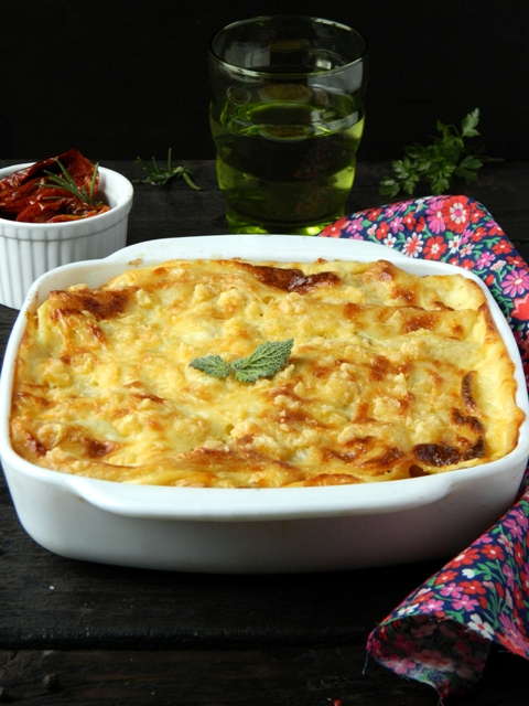 Lasagna with pumpkin and вяленными tomatoes (4)