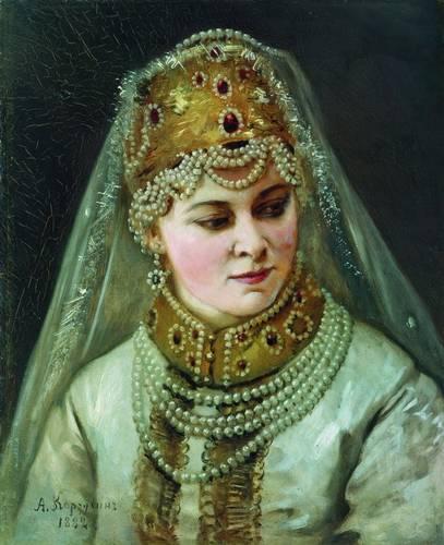 Алексей Иванович Корзухин (1835-1894) Боярышня 1882