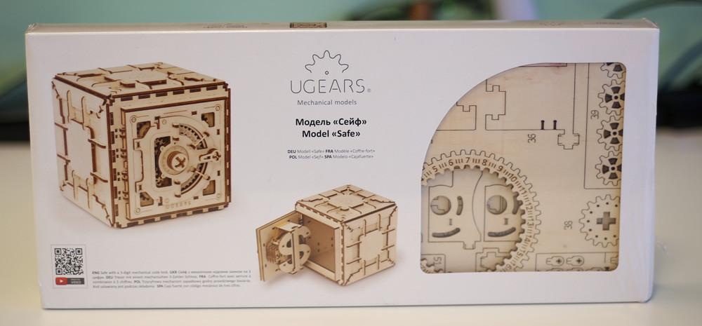 Оригинальный подарок - деревянный конструктор сейф UGEARS