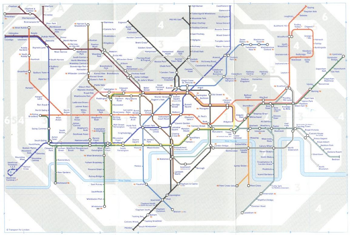54-летний системный аналитик из Блэкпула создал, наверное, самую причудливую версию карты Лондонского метрополитена...
