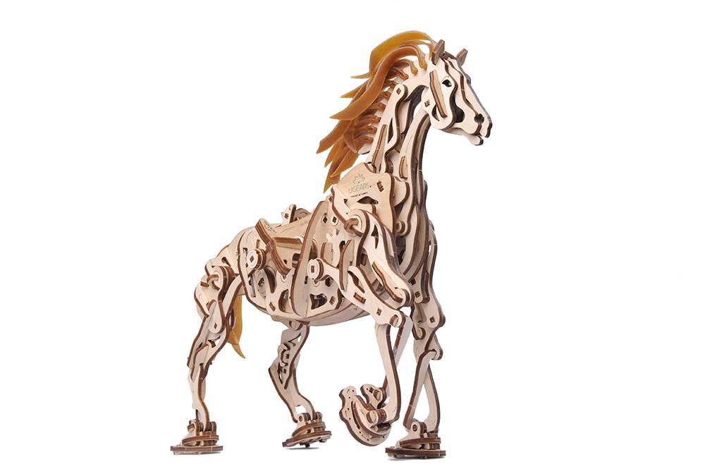 Деревянная заводная ходячая лошадь конструктор UGEARS