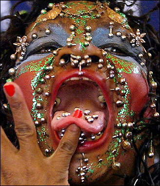 most_pierced_woman