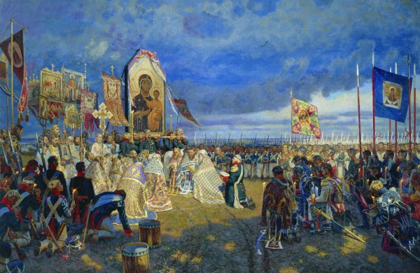 Молебен на Бородинском поле. 2000-2002