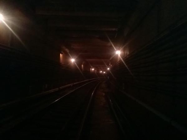 Поворот тоннеля в обратном направлении