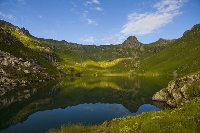 Озеро Гуарап. Горная Абхазия.