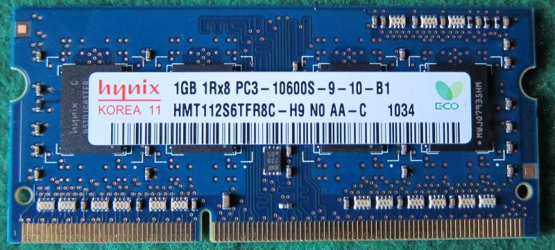 Hynix SO-DIMM DDR3 1GB PC10600 1333MHz