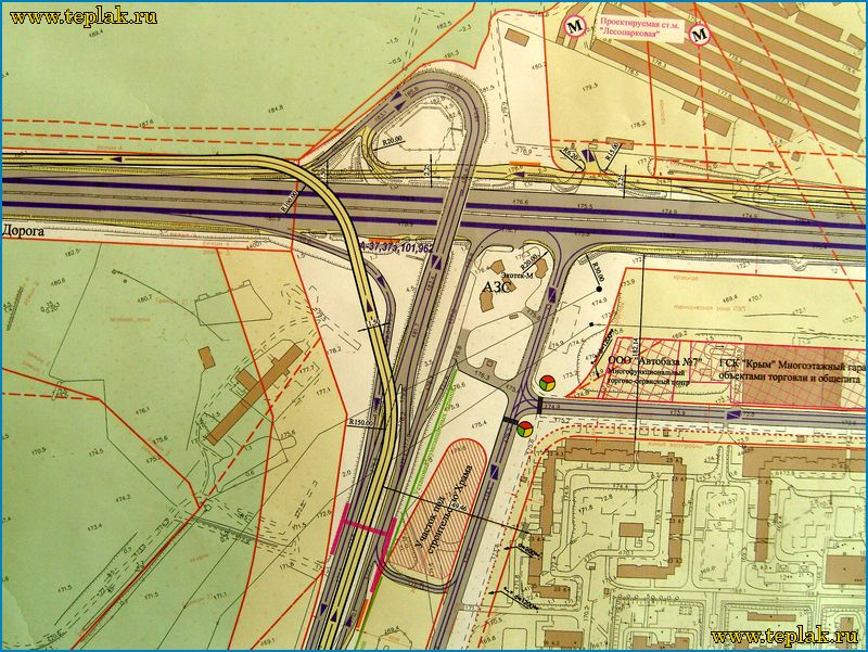 Проектируемая реконструкция развязки МКАД - Варшавское шоссе.