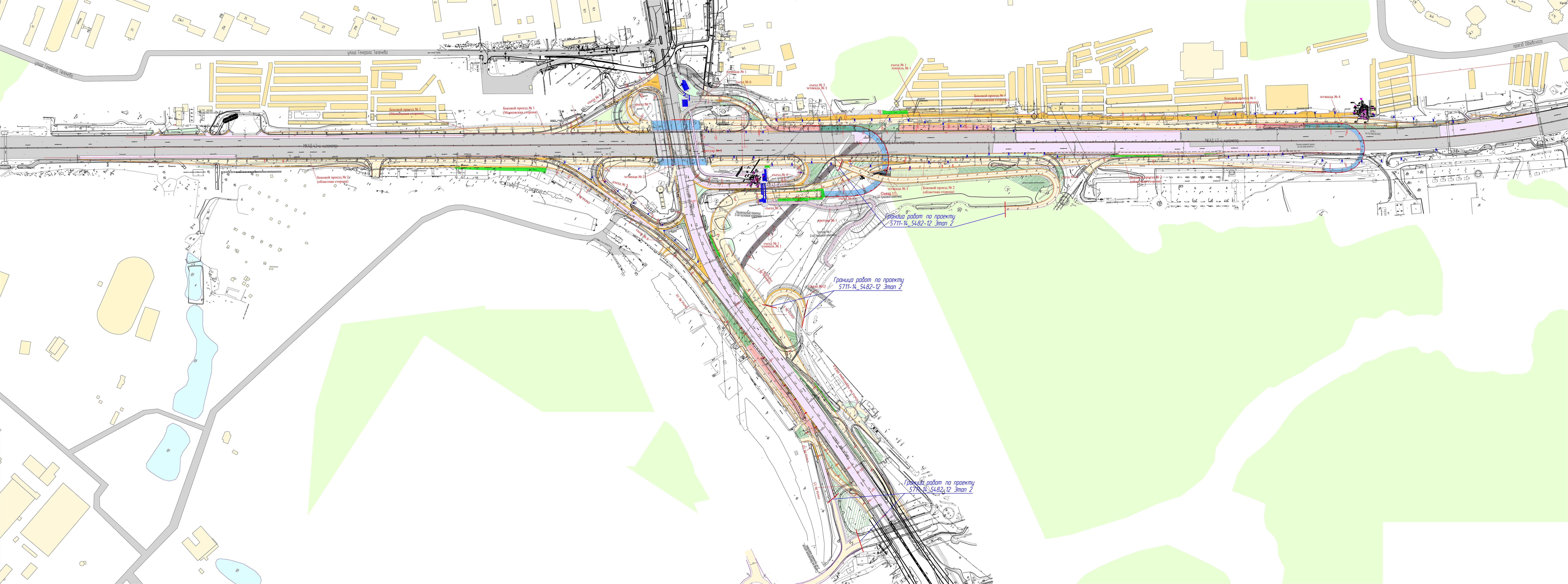 Развязка на калужском шоссе и мкад схема