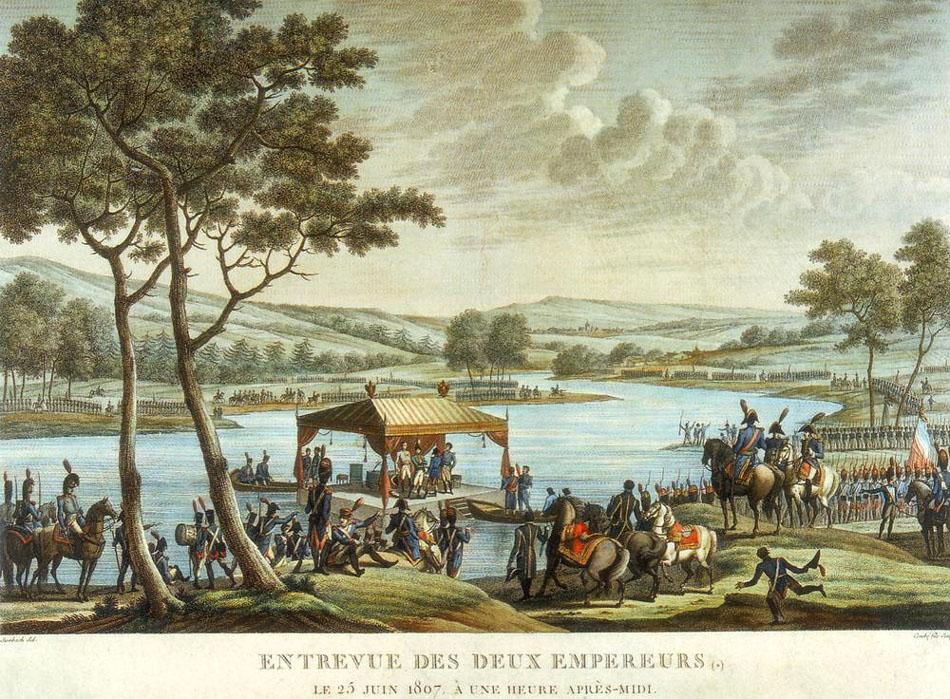 Встреча двух императоров 25 июня 1807 г