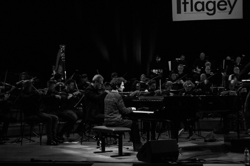Tigran Hamasyan Trio with Brussels Philharmonic & Alexander Hanson, January 18 2019, Flagey, Brussels