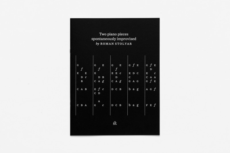 Roman Stolyar, Two Spontaneous Piano Improvisations (front cover)