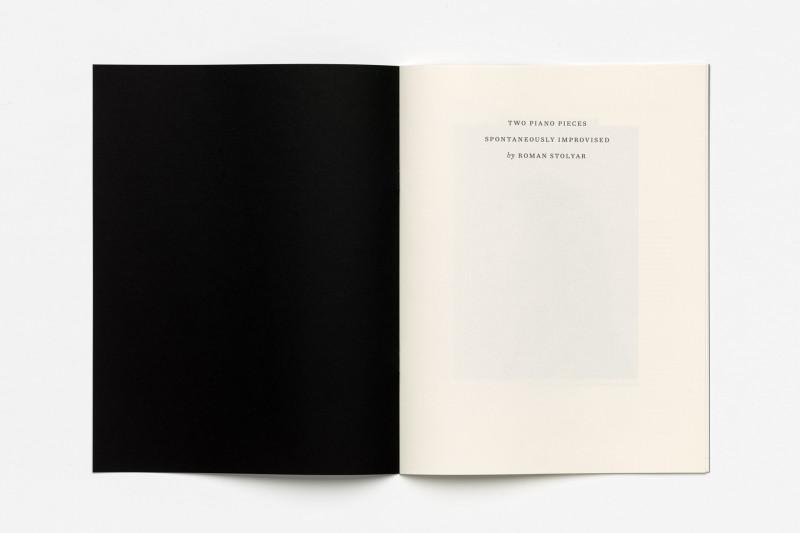 Roman Stolyar, Two Spontaneous Piano Improvisations (half-title)