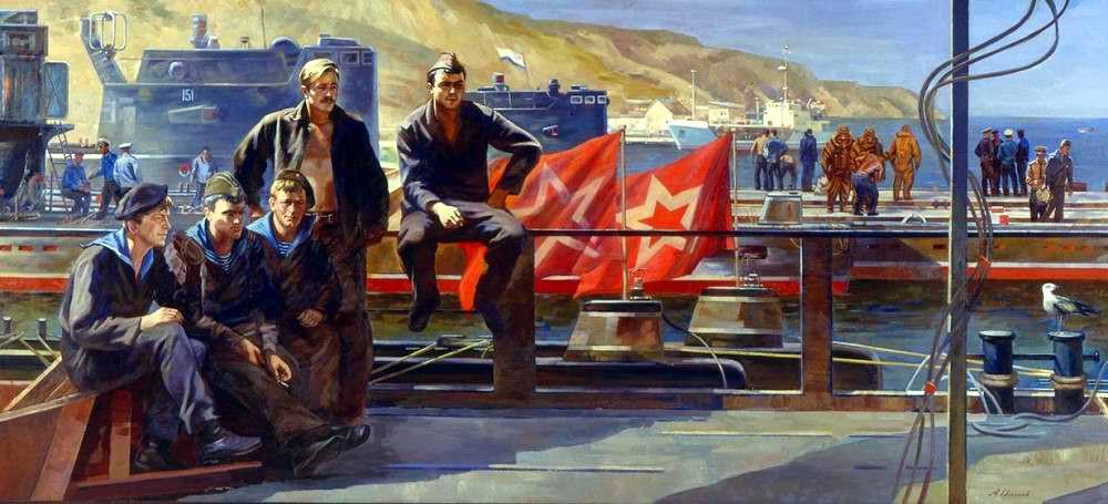 Картины советских и российских художников на армейскую тему